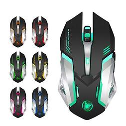Ocamo 2.4G 2400DPI Rechargeable Wireless Mouse with Colorful
