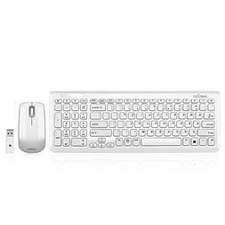 Perixx PERIDUO-710W, Wireless Keyboard and Mouse Combo Set -