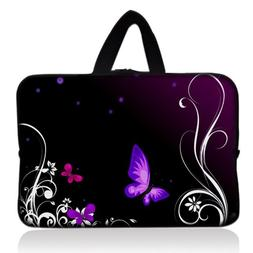 "Purple Butterfly Universal 7"" 7.7"" 8"" Carrying Bag Case Cove"