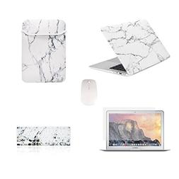 TOP CASE - 5 in 1 Bundle Deal Air 13-Inch Marble Pattern Har