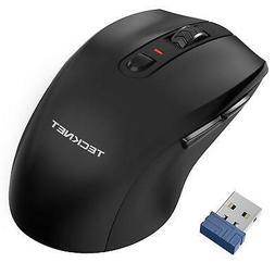 TeckNet Alpha Ergonomic 2.4G Wireless Optical Mobile Mouse W