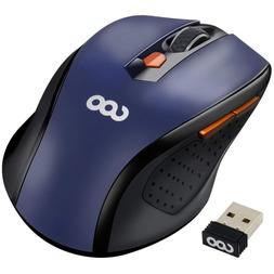 Usa Blue Pro 2.4G Ergonomic Wireless Mobile Optical Mouse wi
