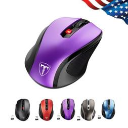 VicTsing 2.4G Optical Wireless Mouse Gaming Mice USB Receive