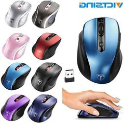 2.4GHZ Wireless Optical Mouse Mice + Nano USB Receive for PC