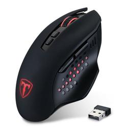Wireless 2.4GHz Ergonomic Gaming Mouse Mice Adjustable 4800D