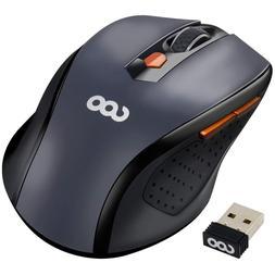 Wireless Mouse, Quiet Click, Nano USB Receiver, ergonomic, C
