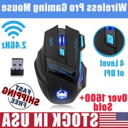 2.4Ghz Wireless Optical Pro Gaming Mouse Mice w/ USB Receive