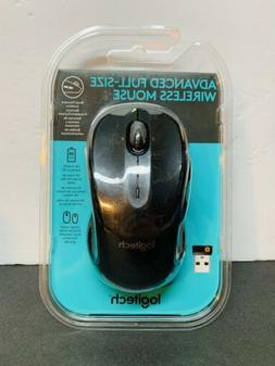 Logitech Advanced Full Size Wireless Mouse OptIcal Back Forw