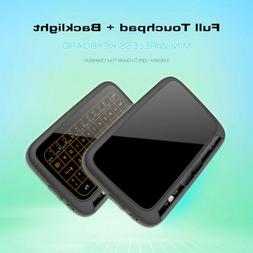 Air Mouse Touchpad Backlit Keypad Remote Wireless Keyboard f