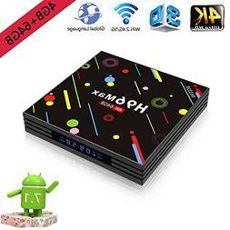 4K Smart TV Box 4G+64GB H96 Max Android 7.1 Display Screen R