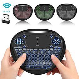 Backlit Mini Keyboard, Jelly Comb USB 2.4G Mini Wireless Key