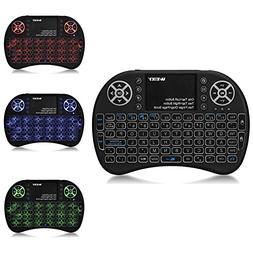 Backlit Mini Keyboard Touchpad Mouse AMGUR Mini Wireless Key