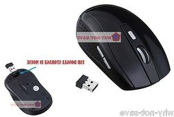 black Wireless Optical mouse Mini usb receiver for Dell Tosh