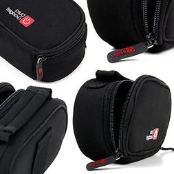 DURAGADGET Black Neoprene Lightweight Zip-Locked Carry Case