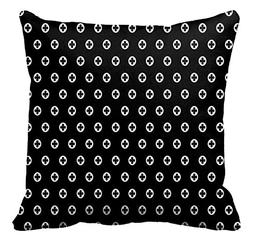Black and White Polka Dot Pattern Pillowcase Sofa and Car Cu