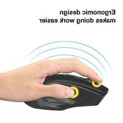 BLACK WIRELESS CORDLESS 2.4GHz MOUSE USB DONGLE OPTICAL SCRO