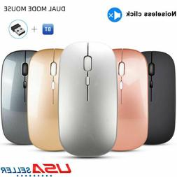 Bluetooth +2.4G Wireless Mouse Optical Mice for PC Mac Andro