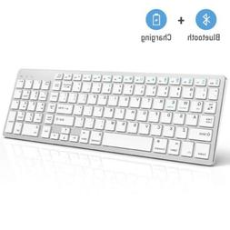 Bluetooth Keyboard, Jelly Comb Rechargeable Slim BT Wireless