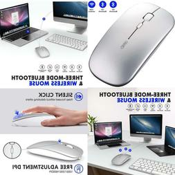 Bluetooth Mouse, Inphic Multi-Device Slim Silent Rechargeabl