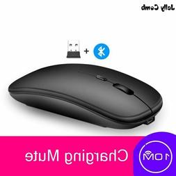 Bluetooth Rechargeable Mouse Wireless Silent Dual Mode Optic