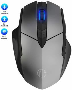 Bluetooth/Rechargeable Wireless Mouse 2.4 or 5.0Ghz w/ Silen