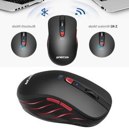 Bluetooth Wireless 2.4GHz Mouse Optical Gaming Mice for PC M