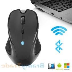 Bluetooth Wireless Mouse Optical Cordless Mice for Laptop Ma