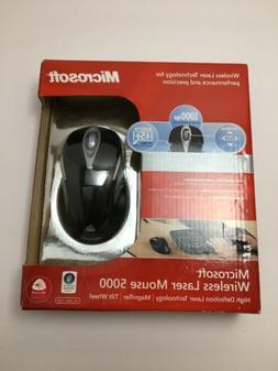 Brand New: Microsoft Wireless Laser Mouse 5000 Metallic Blac