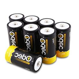 Odec C Rechargeable Batteries, Deep Cycle 5000mAh NiMH Batte
