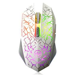 VEGCOO C12 Rechargeable Wireless Gaming Mouse Mice Silent Cl