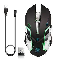 VEGCOO C9s Updated Version Wireless Gaming Mouse, Rechargeab