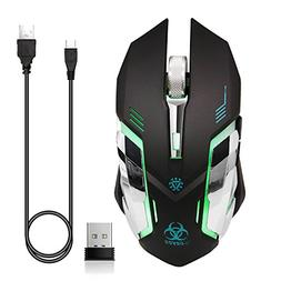 VEGCOO C9s  Wireless Gaming Mouse, Rechargeable Silent Click