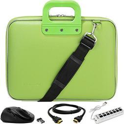SumacLife Cady Green Laptop Messenger Bag Carrying Case w/ M