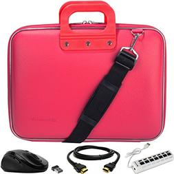 SumacLife Cady Magenta Pink Messenger Bag Carrying Case w/ M