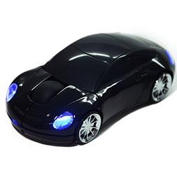 2.4G Car Optical Laptop Mouse Shape Wireless Mice For PC USB