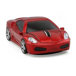 Usbkingdom 2.4GHz Cool 3D Sport Car Shape Wireless Mouse Opt