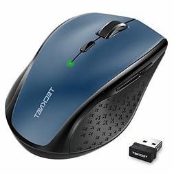 TeckNet Classic 2.4G Portable Optical Wireless Mouse with US
