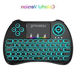 UpGoing USB 2.4GHz Colorful Backlit Mini Wireless Keyboard H