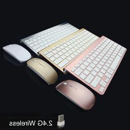 Combo Set 2.4G Wireless Keyboard And Mouse For PC Windows Wa