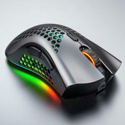 Computer charging wireless mouse 1B1A RGB mute hollow mouse