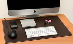 Computer Leather Desk Pad, Stylish Mat Cover, Reversible Col