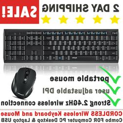 cordless wireless keyboard and mouse combo