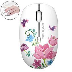 EIGIIS Cute Wireless Mouse Silent Mini Mouse 2.4Ghz Optical