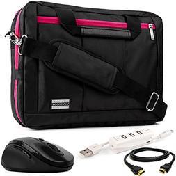 EL Prado 3-in-1 Hybrid Magenta Trim Laptop Bag w/ 3PC Access
