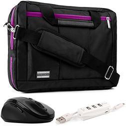 EL Prado 3-in-1 Hybrid Purple Trim Laptop Bag w/ Wireless Mo