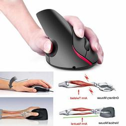 Ergonomic Mouse Optical Vertical Mouse Rechargeable Wireless