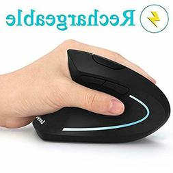 Ergonomic Mouse, Vertical Wireless Mouse - LEKVEY Rechargeab