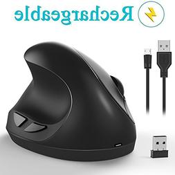 Ergonomic Wireless Mouse, Vertical Mouse - 7Lucky SMALL Rech