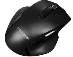 AmazonBasics Ergonomic Wireless Mouse - DPI adjustable - Bla