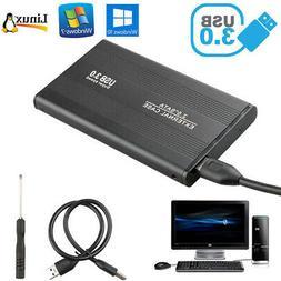 "External Backup Hard Drive Case 3TB USB 3.0 Enclosure 2.5"" P"